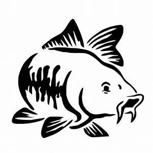 13.8*12.5CM Carp Fish Animal Window Stickers Creative ...