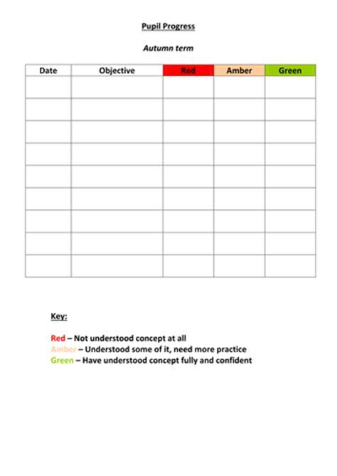 pupil progress tracking sheet  carlytrillow teaching