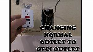 Gfci Outlet - Changing Normal Outlet To Gfci Outlet