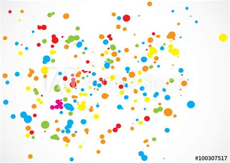 Abstract Color Splash Illustration On White Background