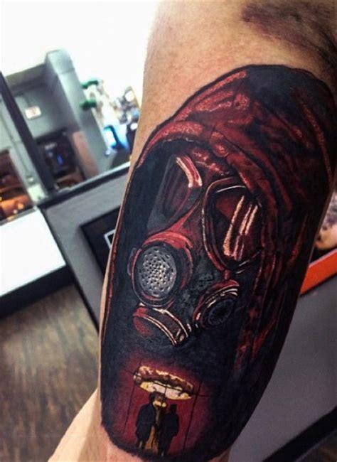 gas mask tattoo designs  men breath  fresh ideas