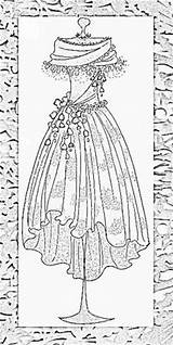 Coloring Pages Dress Printable Colouring Patterns Adults Mannequins Form Dresses Adult Sheets Embroidery Line Corsets Victorian Sheet Vetements Corset Lingerie sketch template