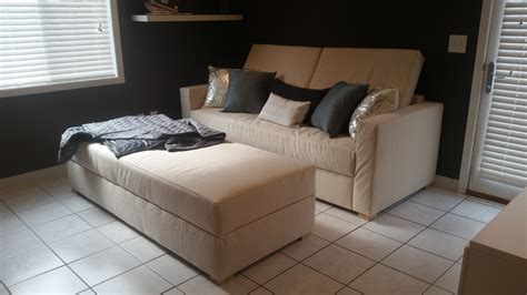 Sofa Bed Plans by White Storage Sofa Convertible To Bed Diy Projects