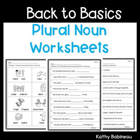 basics plural nouns worksheets distance learning