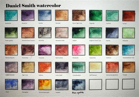 Daniel Smith Watercolor Chart