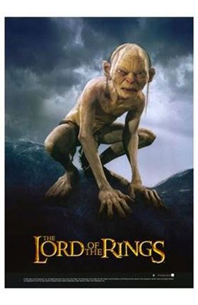 lord   rings return   king gollum fine art
