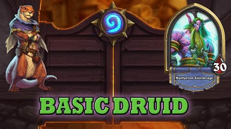 hearthstone deck guide starter druid basic cards only