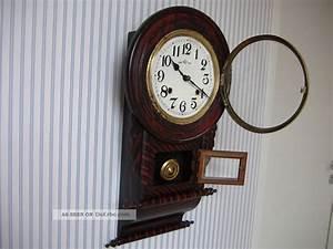 Wanduhren Mit Pendel Antik : alte englische wanduhr mit pendel rar ~ Watch28wear.com Haus und Dekorationen