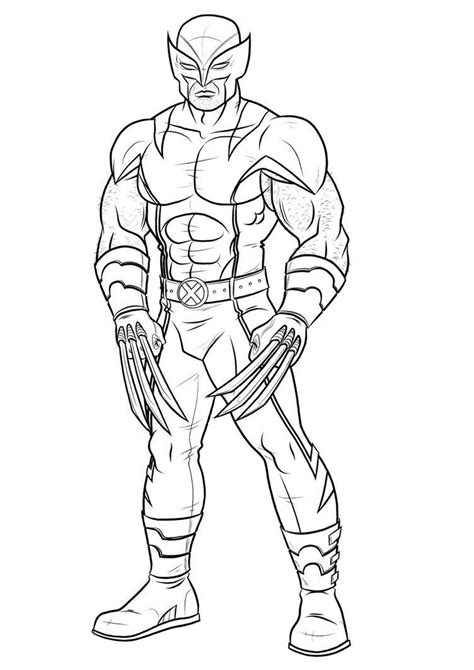 wolverine coloring pages    print