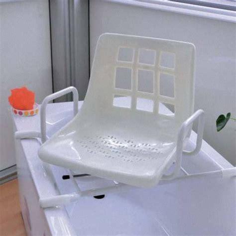 siège de baignoire dakara pivotant accoudoirs blanc