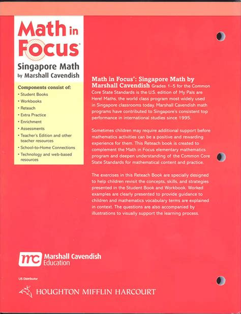 Math In Focus Singapore Math Reteach 2b (061474) Details  Rainbow Resource Center, Inc