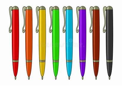 Pens Cartoon Multicoloured Insieme Penne Delle Coloring
