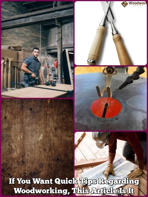 quick tips  woodworking  article