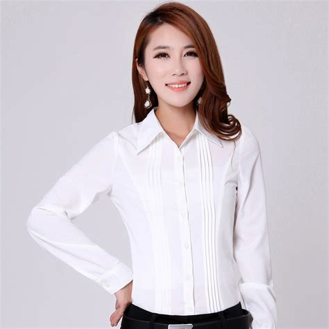 plus size formal tops blouses aliexpress com buy elebodystore white sleeve