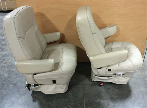 rv furniture used rv leather look captain chairs for sale