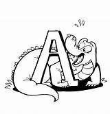 Alligator Coloring Pages Printable Cartoon Clipart Clip Library Bestcoloringpagesforkids sketch template