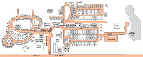 Rv Village Camping Resort  Site Map & Rules