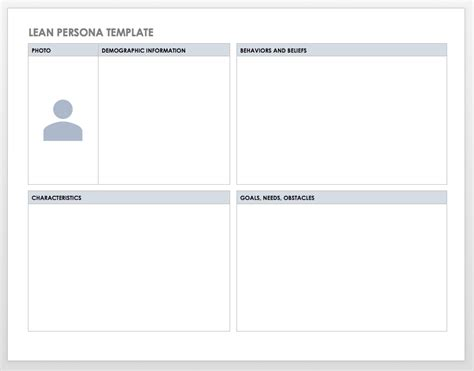 customer persona profile templates smartsheet
