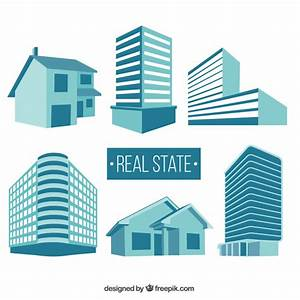 Real state buildings Vector   Free Download