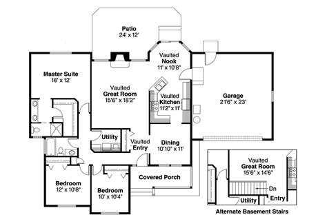 ranch house plans rigdon    designs