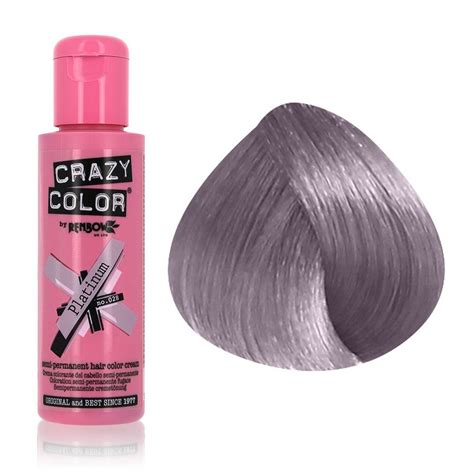 crazy color colour hair dye semi permanant ml platinum