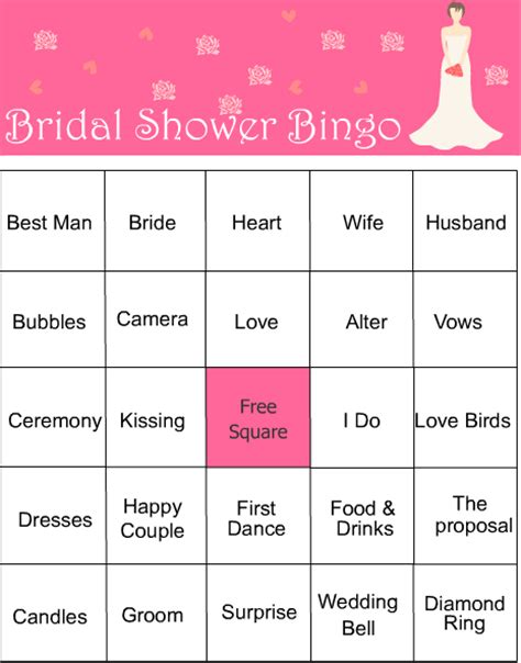 10 free bridal games for showers printable all free