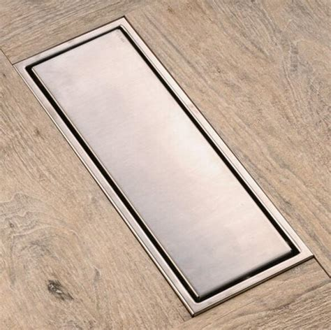 Modern Bathroom Vent by 30cmx11cm Modern Brass Grille Shape Bathroom Floor Waste