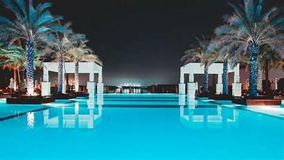 Pool Palm Water Trees Luxury 4k Uhd