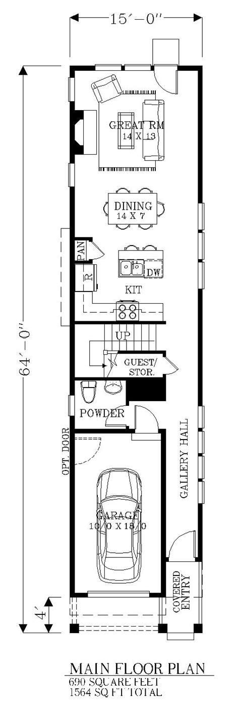floor plan house plan nice sqft bdrom wide narrow lot house plans