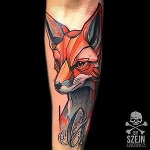 """""""Fox by Szejn @szejno ️ Juniorink WorstTattooShopInTown ..."""