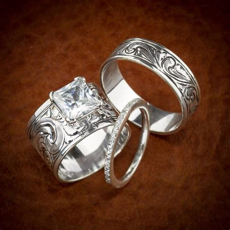 western wedding ring set love love love dream wedding