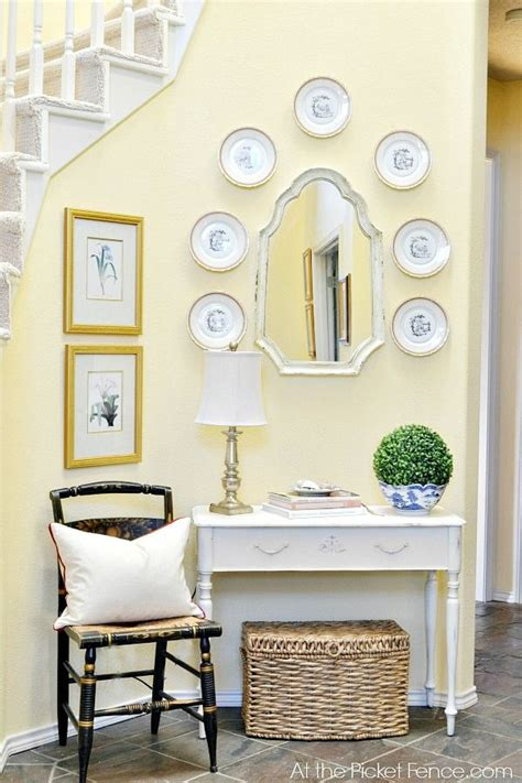 staircase and entry makeover reveal decorate for the