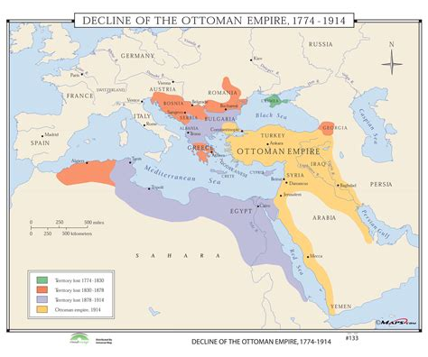 Map Of Ottoman Empire 1914 - 133 decline of the ottoman empire 1774 1914 on roller w