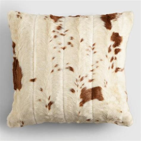 Cowhide Throw by Faux Cowhide Throw Pillow World Market