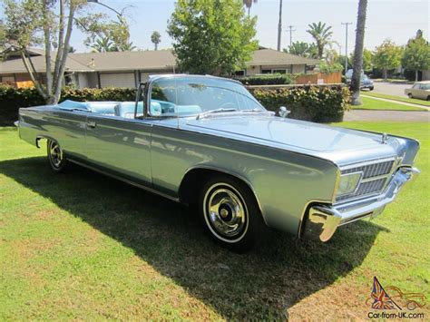 1965 Chrysler Imperial Convertible Fully Restored And