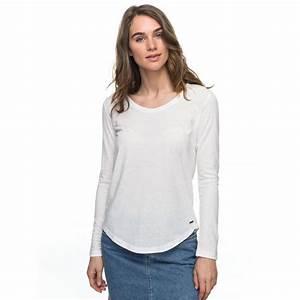 Womens Just Simple Solid Long Sleeve T Shirt ERJZT04015 - Roxy