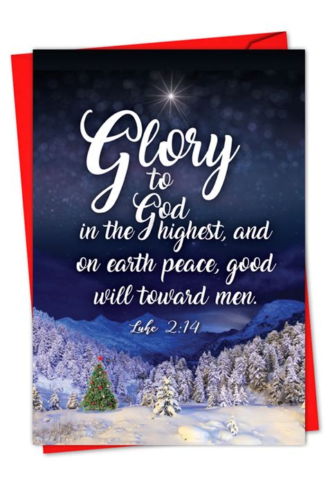 What to write in a christmas card? Christmas Quotes Luke 2:14: Stylish Christmas Paper Greeting Card