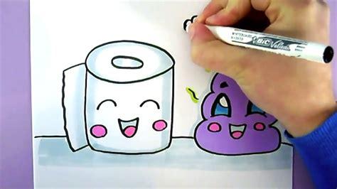 comment dessiner des toilettes comment dessiner du papier toilette et du caca kawaii