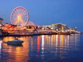 Navy Pier Chicago at Night