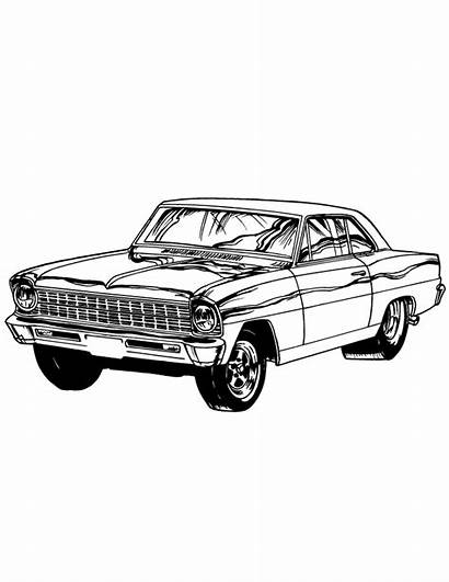 Coloring Cars Colouring Classic Printable Muscle Bing