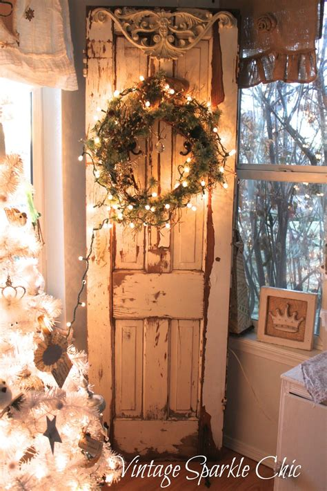 vintage christmas decor vintage sparkle chic french shabby christmas decorations
