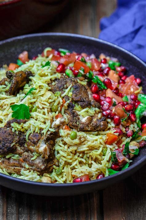 Persian jeweled rice fit for banquets. Middle Eastern Chicken and Rice (Video) | The ...
