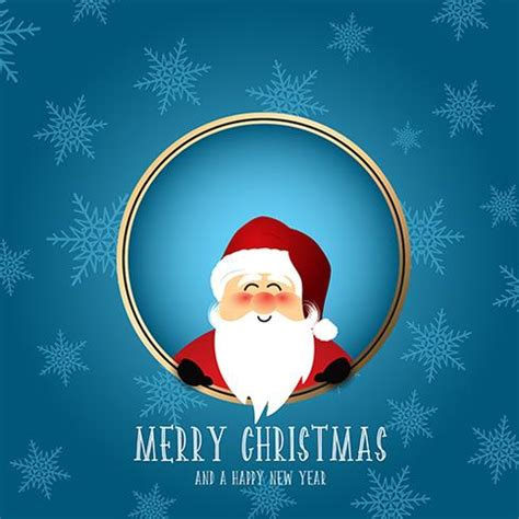 cute santa christmas background   vector art