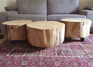 Table Basse Rondin De Bois : diy transformer un rondin de bois en table basse roulettes ~ Farleysfitness.com Idées de Décoration