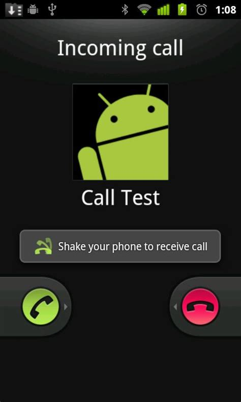 android call answer android calls with a shake