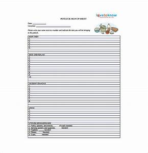 Holiday Potluck Signup Sheet Template 22 Sign Up Sheet Templates Free Sample Example Format