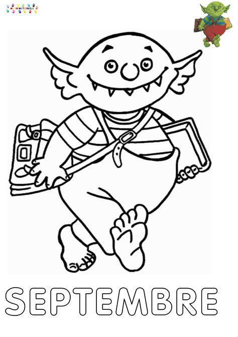 le petit ogre qui veut aller  lecole mois de septembre