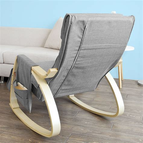 wooden chairs with footrest sobuy 174 wooden glider chair rocking chair with adjustable