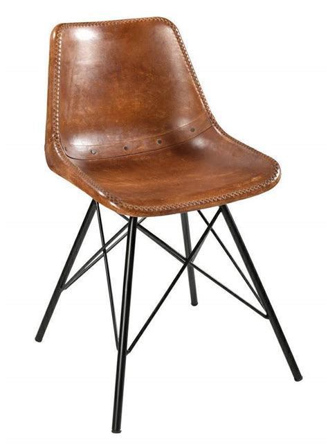 industrial style dining chair indian brown leather chairs