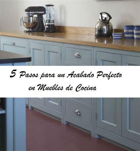 pasos  pintar los muebles de cocina www